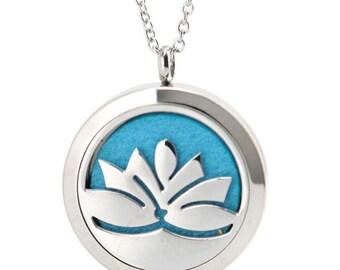 Lotus Flower Essential Oil Necklace Diffuser
