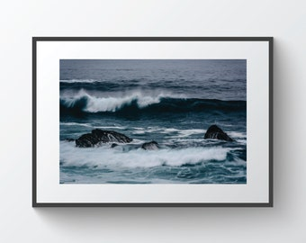 Waves in the Pacific Ocean, in Pacific Grove, California | Photo Print, Metal, Canvas, Framed.
