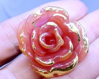 Sweet Pink Rose focal bead