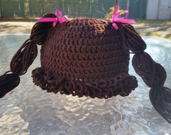 Crochet Cabbage Patch Doll Hat