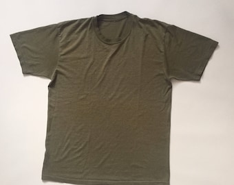 70's Camo Green Faded T-shirt