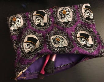 Gothic Makeup Bag, gothic pencil case, gothic bag