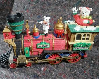 New Bright Holiday Express Christmas Bear Train
