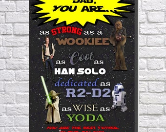 Gift For Dad, Star Wars Wood Panel, Star Wars Decor, Han Solo, Gift for Him, Dad Gift, Star Wars, Fathers Day Gift, Yoda, Wookiee