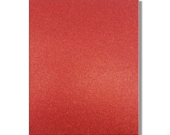 2 x A4 sheets of Premium Dovecraft Ruby Red Glitter Card 220 gsm