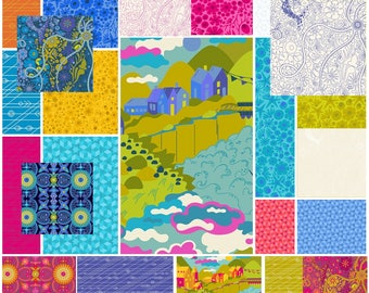 Alison Glass - Diving Board - Fat Quarter Bundle - *****ONLY 23 Prints