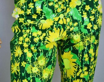Vintage 1970's LiLLY PuLitZeR Men's MoD HiPPiE PsYcHeDeLiC Flower GoLf HiPPiE Pants Size 32