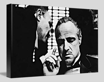 The Godfather Framed Canvas Digital Artwork A4 - A3 - A2 - A1