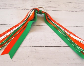 Orange/Green,Orange/Blue,Orange/White Streamers-U Miami Streamers-U Florida Streamers-U Tennesse Streamers-Team Colors s - BowBravo