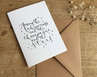 Among the whisperings... literary quote greeting card