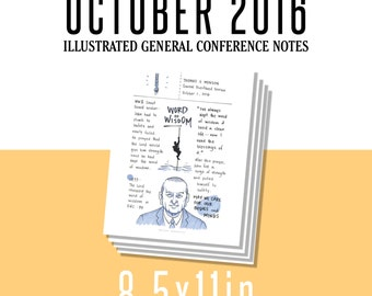 1 per page 8.5x11in General Conference Illustrated Notes - October 2016