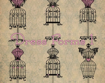 Dress Forms 1 - Digital Scrapbooking Crafting Clipart Graphics