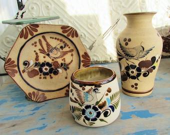 vintage sandstone Mexican pottery