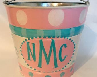 Monogrammed Bucket