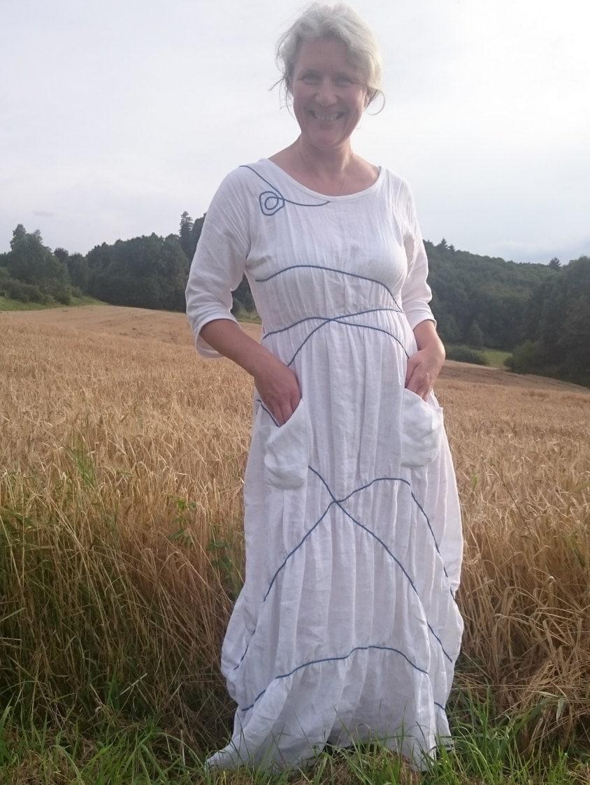 Einzigartige Hochzeitskleid / Abendessen Kleid / Leinen