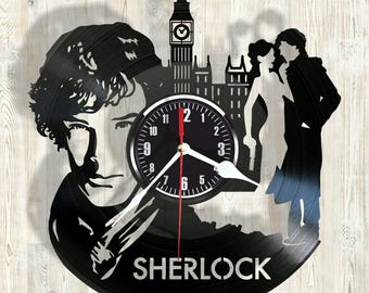 SHERLOCK vinyl record wall clock best eco-friendly gift for any occasion