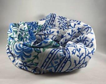 Fair trade infinity scarf colorful sacrf handmade block printed scarf made in India circle scarf