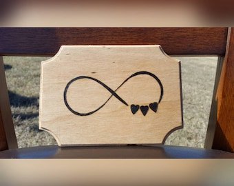 Infinity Symbol with Hearts Wall Decor/Wall Hanging