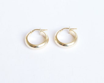 9ct gold - creole hoop earrings - creole hoop - gold hoop earring - gold hoop - 9ct gold hoops - gold hoops - gold creole -L1-CR-5010-12-14