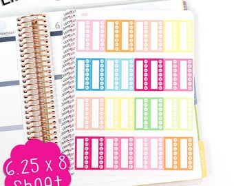 LS227 Summer Palette Habit Tracker Planner Stickers! Set of 32, Tracking, Resolution, Water, Medication, Erin Condren Life Planner!!