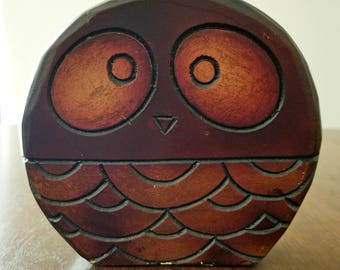 Wood Owl Napkin Holder