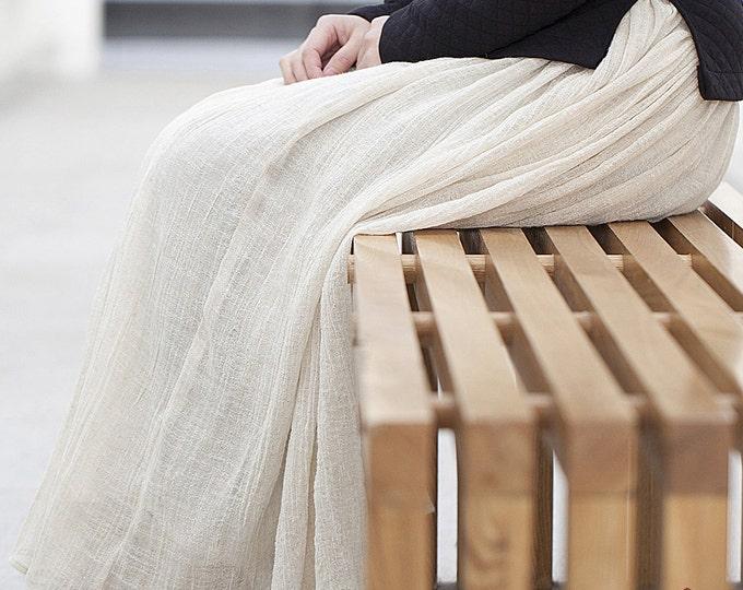 Women skirt - Linen skirt - Long skirt - with lining - Made to order