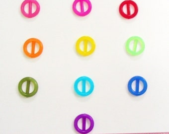 SALES Translucent Tiny round buckle for Barbie, Blythe and dolls 20 pcs