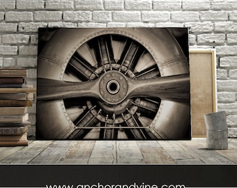 Lovely CANVAS // Airplane Propeller // Oversized Canvas, Large Wall Art, Home Decor