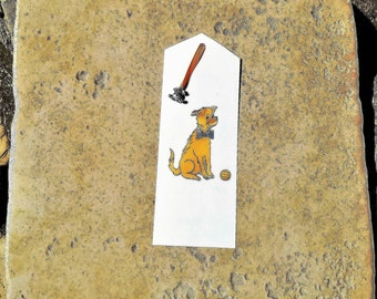 Bookmark, red dog, dog charm in silver