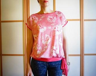 VINTAGE 70's printed blouse//made in UK
