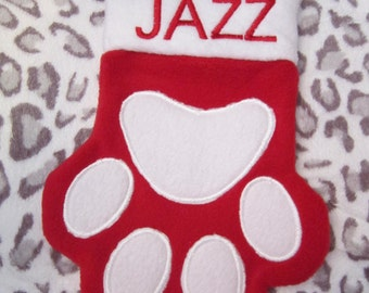 Custom embroidered Pet Christmas stocking, can be personalized