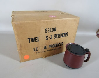 NOS Vintage Le Beau insulated plastic restaurant pitcher
