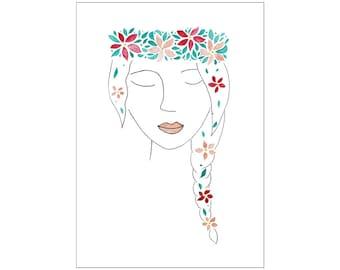 SALE Flower Girl print, various sizes