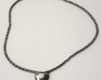 Freshwater Pearl and Hematite necklace