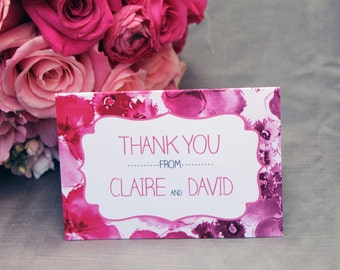 Floral Ombre Thank You Card: DCo Lovenotes