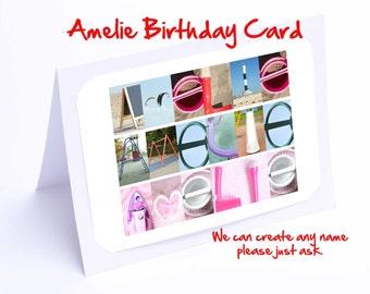Amelie Personalised Birthday Card
