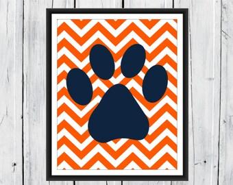 Nursery Print - Puppy Nursery - Dog themed Nursery - Custom Sizes, Backgrounds and Colors- Nursery Decor