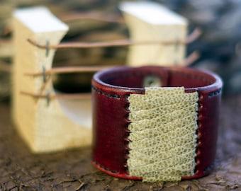 Handmade Leather Bracelet Icelandic souvenir fish skin Accessory Leathercraft and design