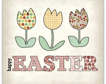 Happy Easter (Happy Easter) card double created this original 15cm x 15cm