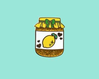 Lemon Curd - Precious Preserves Series 2 Hard Enamel Glitter Pin