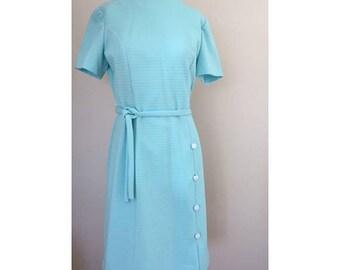 Vintage Joan Curtis Baby Blue Dress
