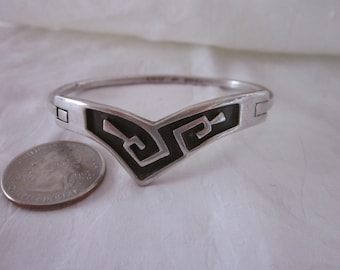 Mexican Hinged Silver Bracelet