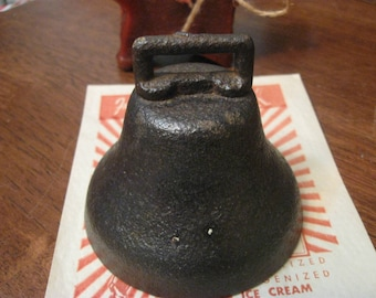 antique cast iron lighter weight bell