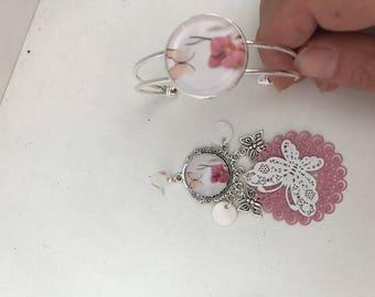 Set with bracelet earrings