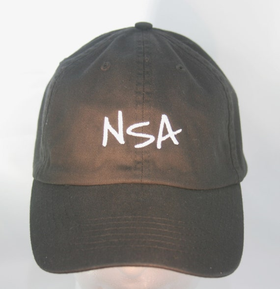 NSA (Polo Style Ball Black with White Stitching)