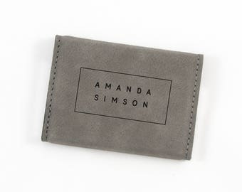 Business card holder etsy personalized business card holder corporate gift boss gift leatherette card holder business colourmoves