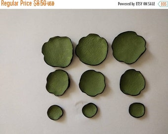 50% OFF SALE DIE Cut leather flowers. Jewelry supplies leather petals. Cabochon flowers