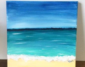 Original Painting, Abstract Painting,Beach Art, Beach Acrylic Painting,Small Art