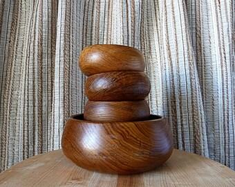 Vintage Gailstyn-Sutton Teak Salad Bowl Set - 5 pieces