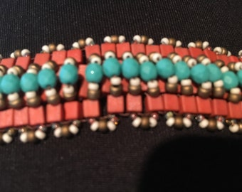 square beaded bracelet